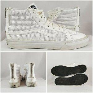 Vans Womens Sk8-Hi White Leather Skate High Top